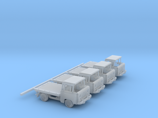 1959 FC150 Pickup Truck with a Flatbed (x4) in Smooth Fine Detail Plastic: 1:160 - N