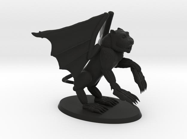 Winged Demon in Black Natural Versatile Plastic