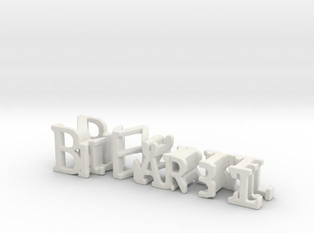 3dWordFlip: BijBärbel/Zwolle in White Natural Versatile Plastic