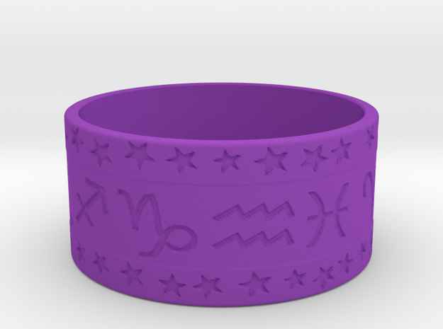 Zodiac ring (+3 intelligence) in Purple Strong & Flexible Polished