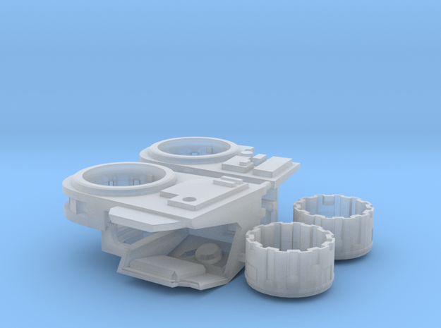 Stormwave Dorsal Missile Array Support in Frosted Ultra Detail: d3