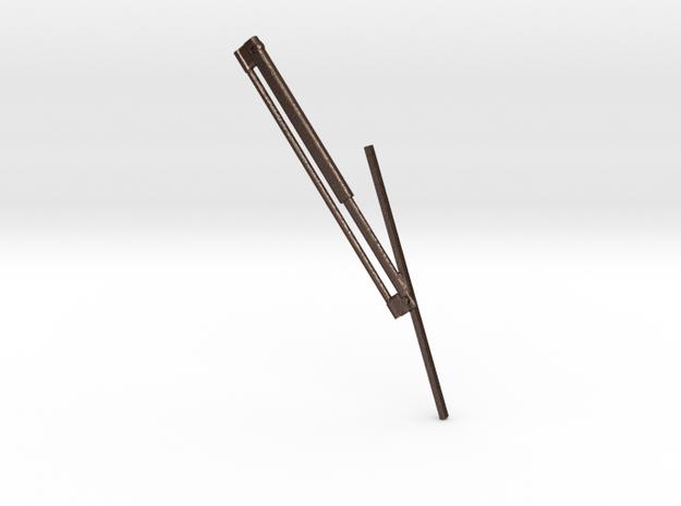 1.5windshieldwiperRightSideV2.stl in Matte Bronze Steel