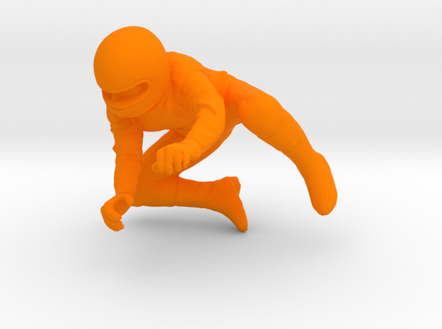 1/24 Motorcycle Rider Turning Right in Orange Strong & Flexible Polished