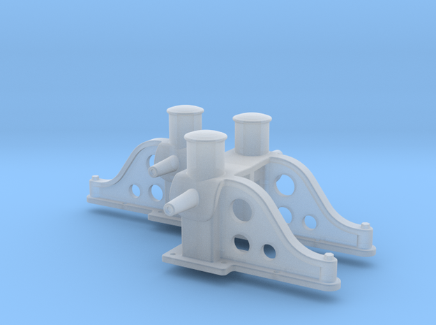 HO Scale Bitts for G-Tugs, Standard in Smooth Fine Detail Plastic