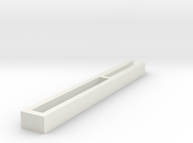 Harmonica reed holder top in White Natural Versatile Plastic