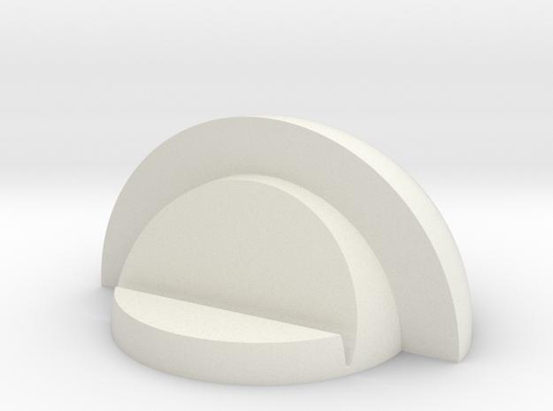 Pin Holder in White Natural Versatile Plastic