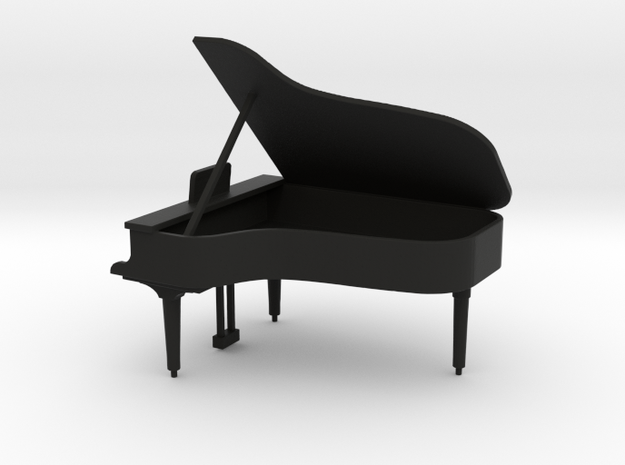 Baby Grand Piano 1:50  in Black Natural Versatile Plastic