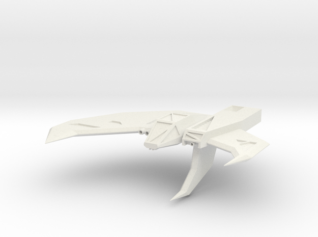 Wing Commander Kilrathy Strakha MK2 in White Strong & Flexible