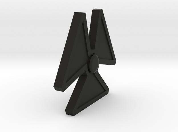 Hazard Spinner in Black Natural Versatile Plastic