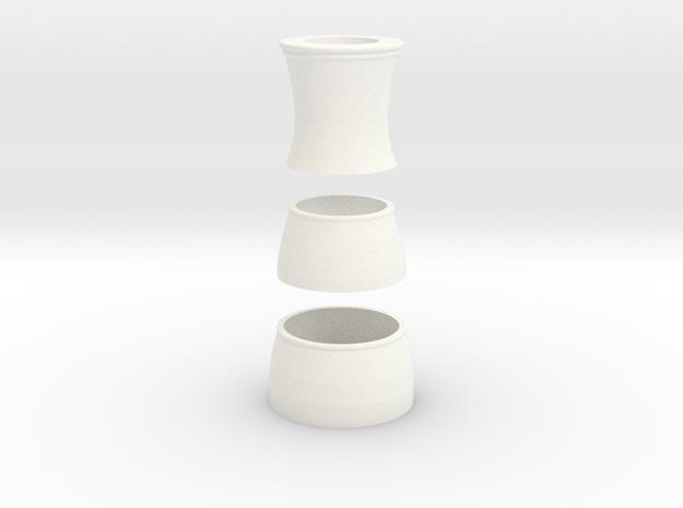 A=415 MIM2609 Rottenburgh baroque oboe ivory parts in White Processed Versatile Plastic