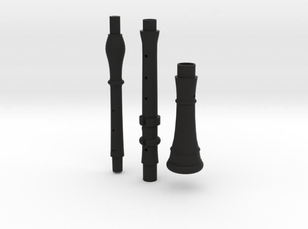 A=415 MIM2609 Rottenburgh baroque oboe joints&bell in Black Natural Versatile Plastic