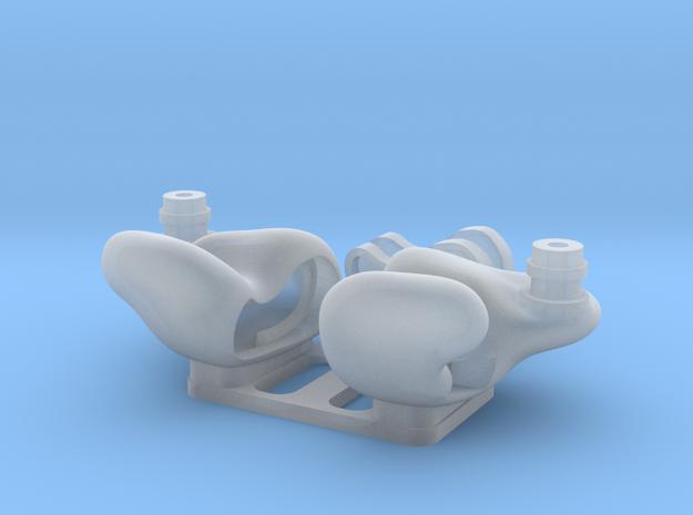 Universal IEM Shells 4 : ED/No engraving Ver. in Smooth Fine Detail Plastic