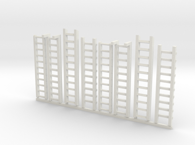 Ladders for miniature games in White Strong & Flexible