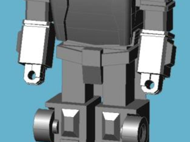 Scamper Minifigure 3d printed Completed figure, front view; assembled with cartoon-style head.