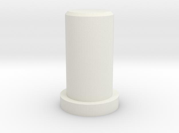 MPP-AuxButton in White Strong & Flexible
