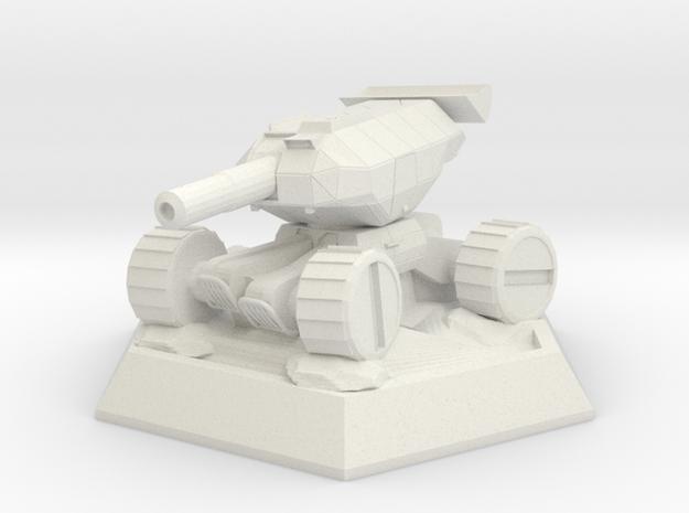 Flywheel Tank (Sophia the 3rd) in White Natural Versatile Plastic