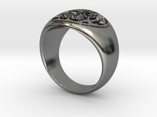 Raven Ring in Fine Detail Polished Silver