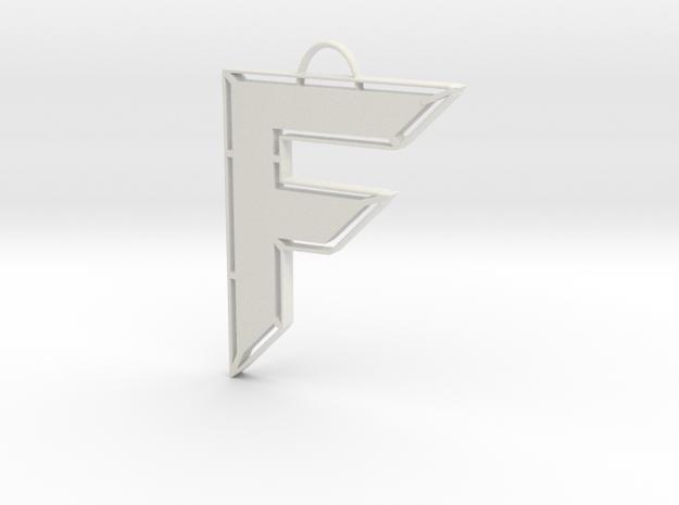 Freeman Futuristics Keychain in White Natural Versatile Plastic