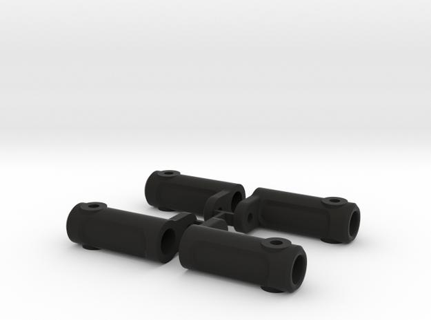 AJ10057 SCX10 Rock Rail Mount in Black Strong & Flexible