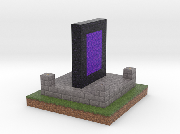 Minecraft Nether Portal  in Full Color Sandstone