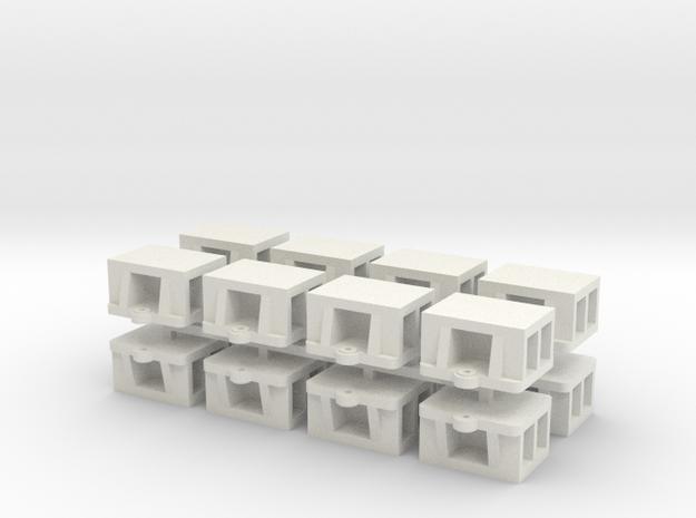 1:48 - WSF Bridge Shoe 16ea in White Natural Versatile Plastic