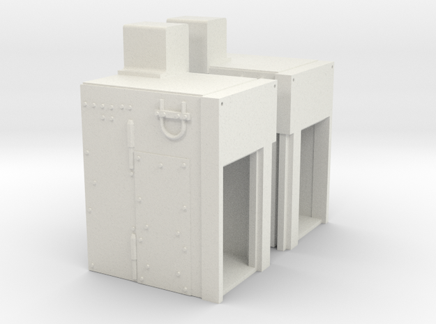 1:18 BUSK III VENT UNITS in White Strong & Flexible
