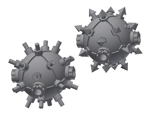 Orbital Mines for Battlefleet Gothic (two types)