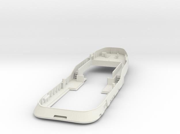 Main Deck & Bullwark 1/87 V56 fits Harbor Tug in White Natural Versatile Plastic