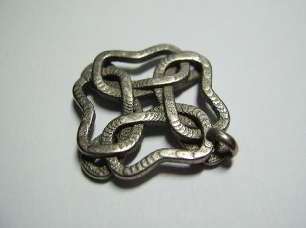 Friendship knot 3d printed Close-up back
