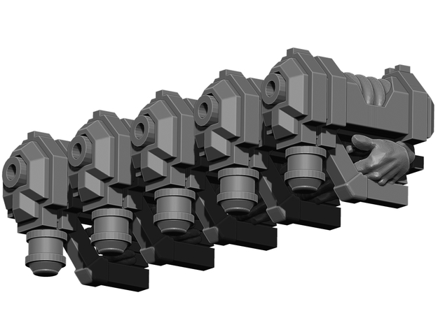 Plasma Pistol Weapons Pack 3d printed