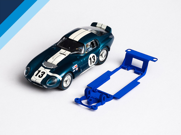 1/32 Monogram Cobra Daytona Chassis for Slot.it SW in Blue Processed Versatile Plastic