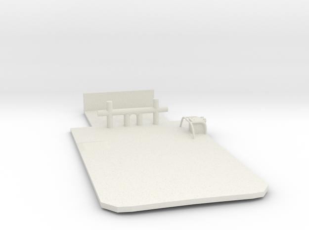 Main Deck Inlay 1/75 V56 fits Harbor Tug in White Natural Versatile Plastic