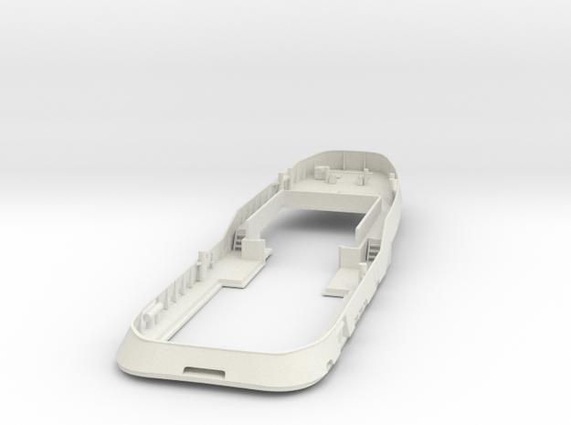 Main Deck & Bullwark 1/75 V56 fits Harbor Tug in White Natural Versatile Plastic