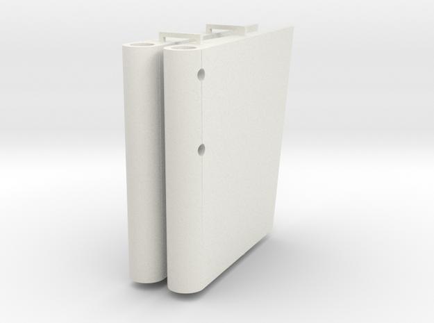 Ruderblätter für Graf Zeppelin 1:100 in White Natural Versatile Plastic