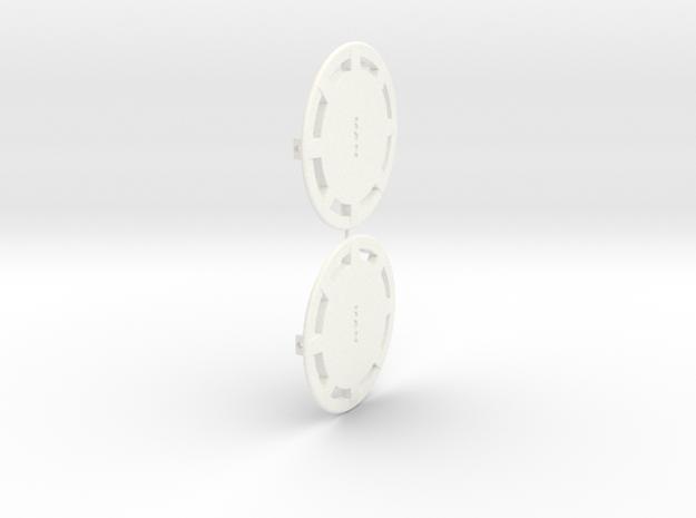 Flasque de roue pour MAN in White Strong & Flexible Polished