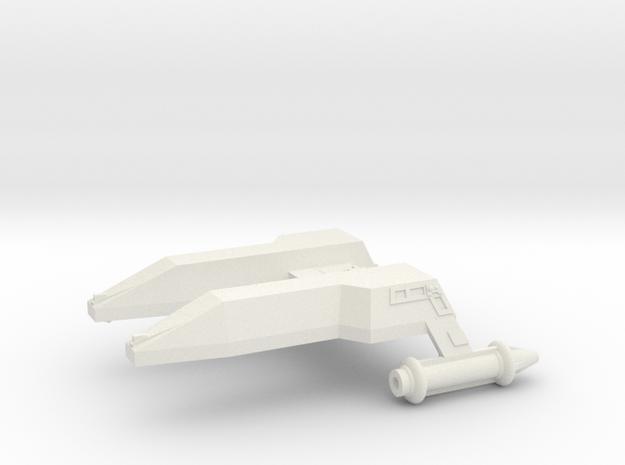 3788 Scale Lyran Leopard Destroyer (DD) CVN in White Natural Versatile Plastic