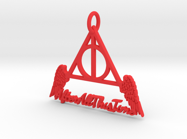 """""""All This Time"""" Pendant in Red Processed Versatile Plastic"""