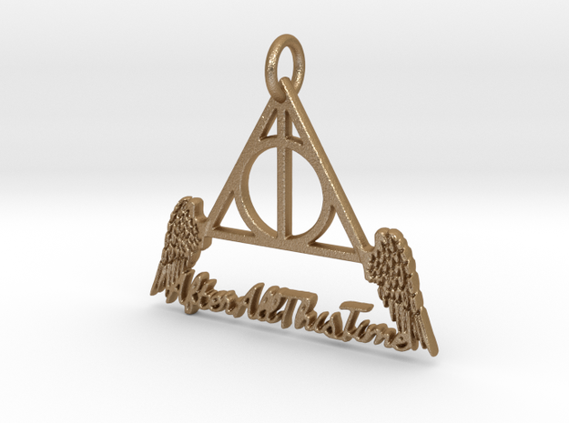 """""""All This Time"""" Pendant in Matte Gold Steel"""