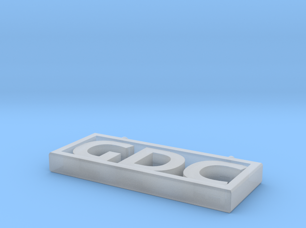 GDC Pendant in Smooth Fine Detail Plastic