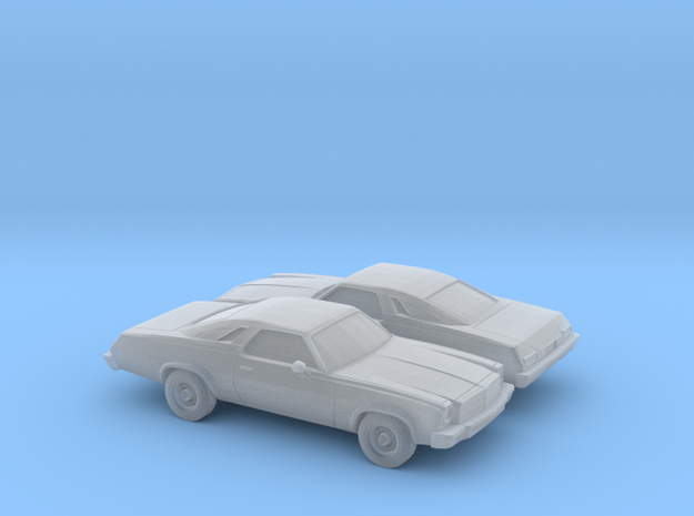 1/160 2X 1974 ChevroletChevelleMalibu Classic Coup in Frosted Ultra Detail