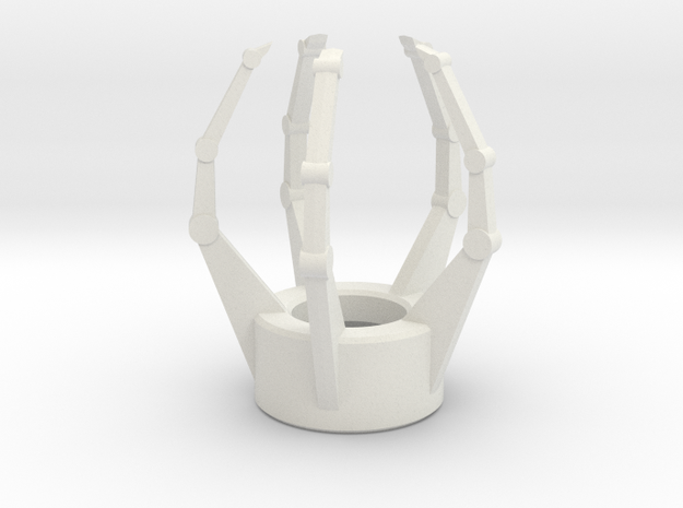 Claw Emitter in White Natural Versatile Plastic