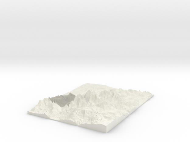 Snowdon W250 S342 E278 N378 in White Natural Versatile Plastic