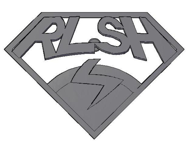 RLSH Badge 3d printed Description