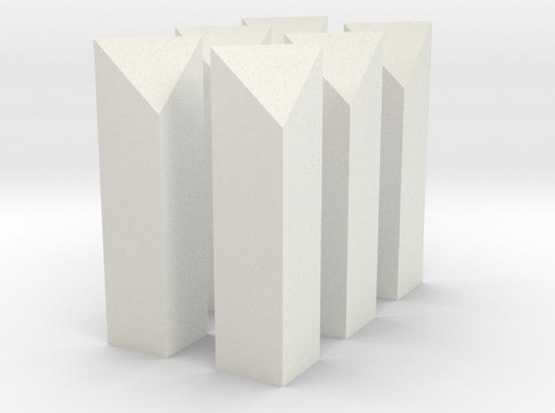 G Scale Mile Posts x 6 in White Natural Versatile Plastic
