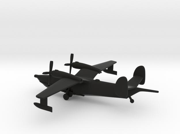 Beriev Be-12 Chayka (Landing Gear) in Black Natural Versatile Plastic: 1:400