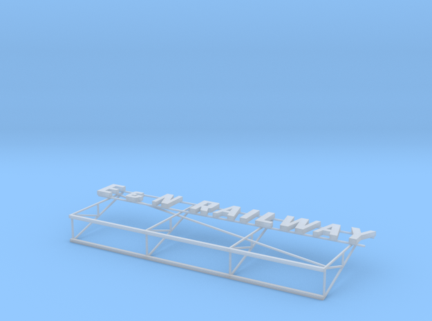 E&N Railway Victoria Station Roof Sign in Smooth Fine Detail Plastic: 1:87 - HO