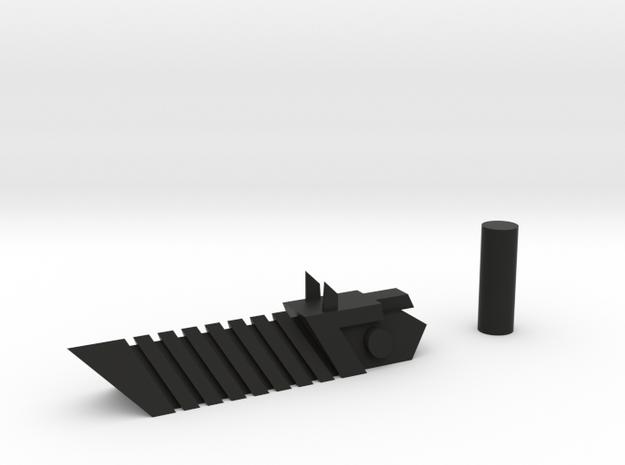 Transformers Prime Vehicon Gun in Black Natural Versatile Plastic