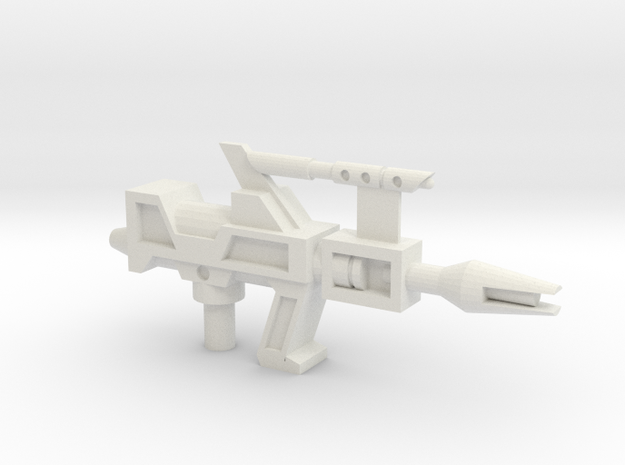 Transformers G1 Topspin Gun in White Natural Versatile Plastic