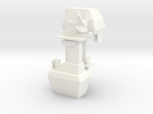 1:32 scale Outboard Motor in set of 2 in White Processed Versatile Plastic