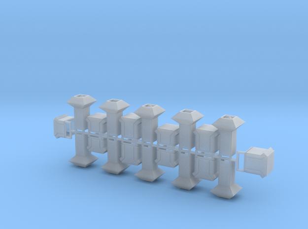Dachlüfter 20erSet Typ 1, 2, 3 und 4  modern 1:120 in Smooth Fine Detail Plastic